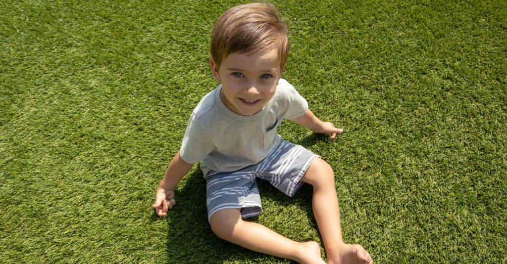 fake grass safe for children