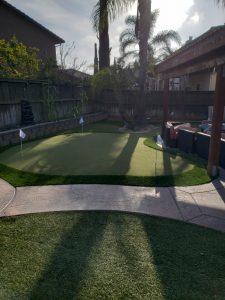 Putting Green in small backyard san diego