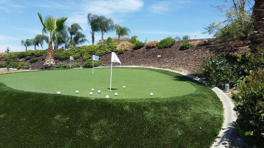 Eagle Putt example yard installation
