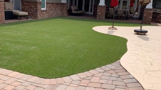 Blend 70 example yard installation