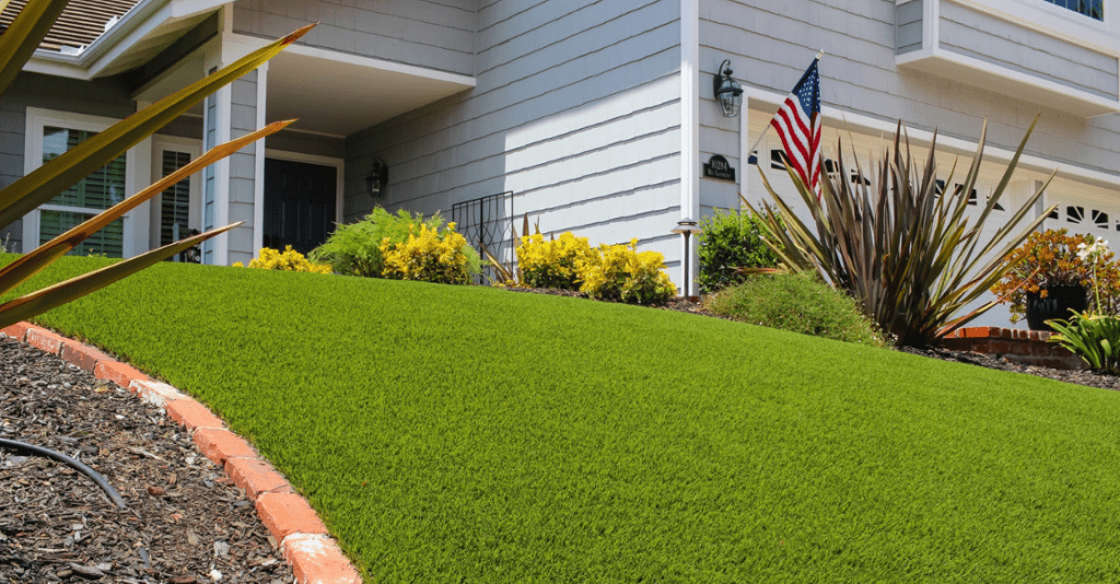US Turf Artificial turn front lawn