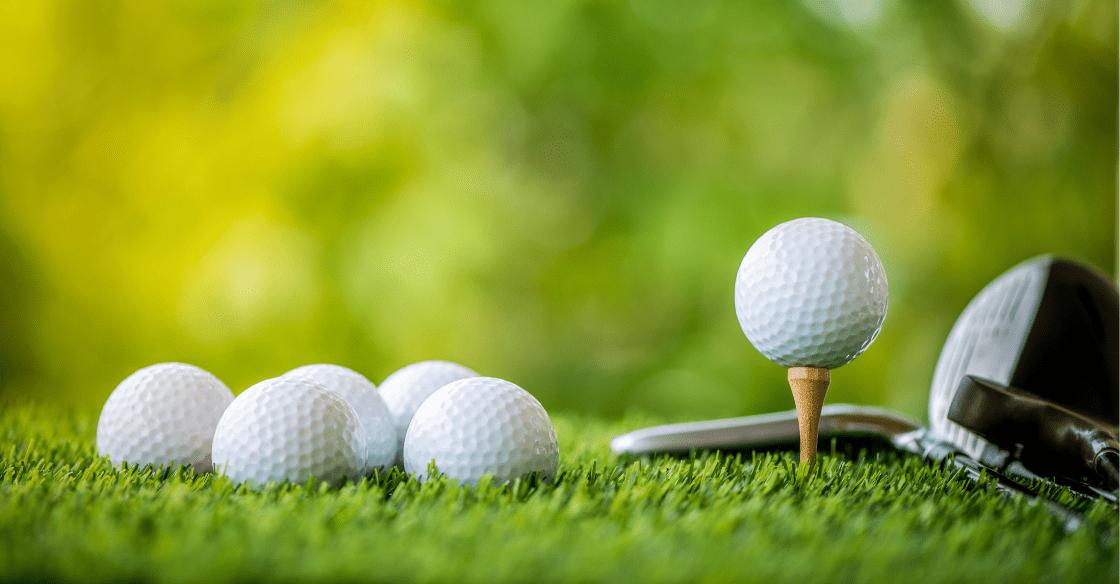 golf balls on artificial turf