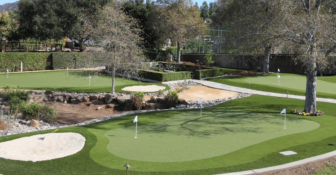 US Turf Putting greens in backyard