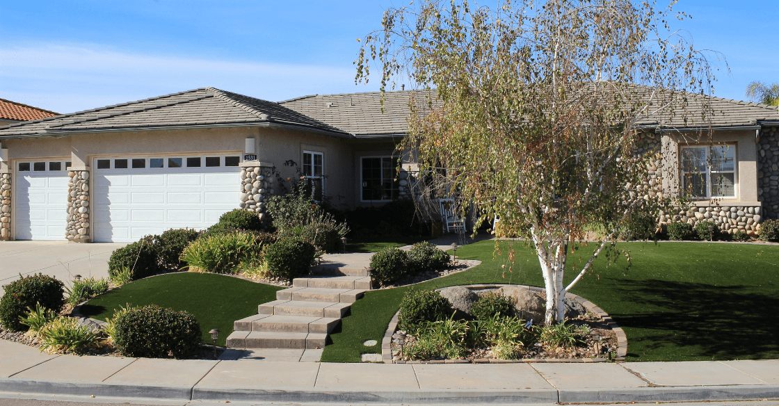 Drought tolerant landscaping using synthetic turf