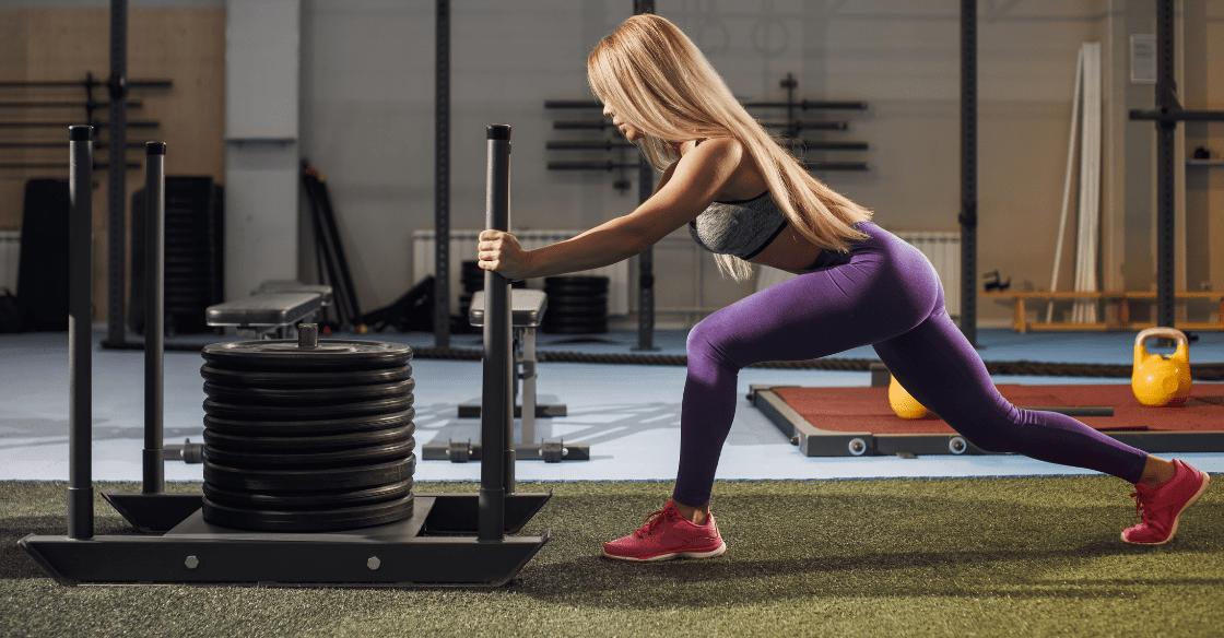 artificial grass in a gym