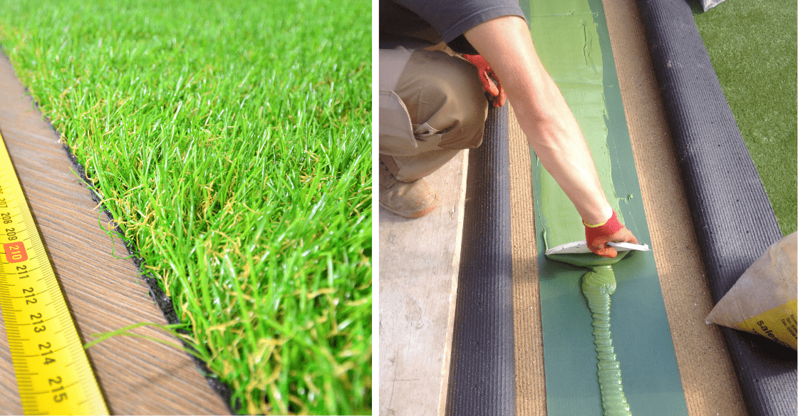 installing artificial grass on concrete