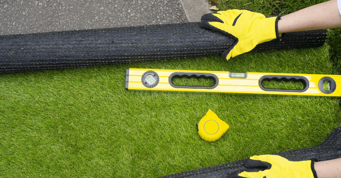 Prepping for artificial grass installation