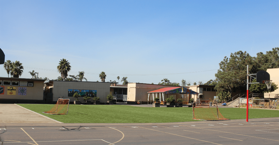 US Turf installed playground and soccer field in San Diego